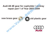Audi A8 4E gear ashtray and cupholder repair kit